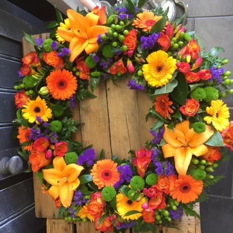 Vibrant Autumnal Wreath