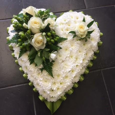 Classic White Heart