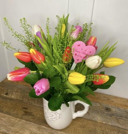 Spring tulip jug