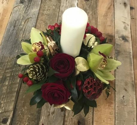 Christmas glow arrangement